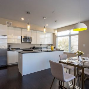 Model unit kitchen & dining room