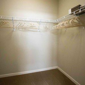 Model unit walk-in closet