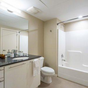 Model unit bathroom