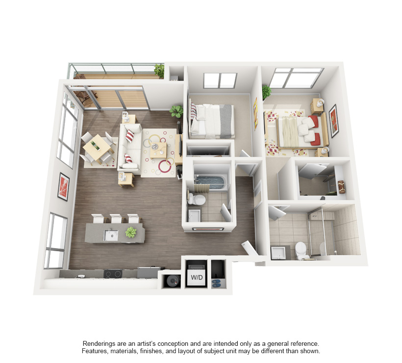 Detroit 3D Floor Plan Rendering