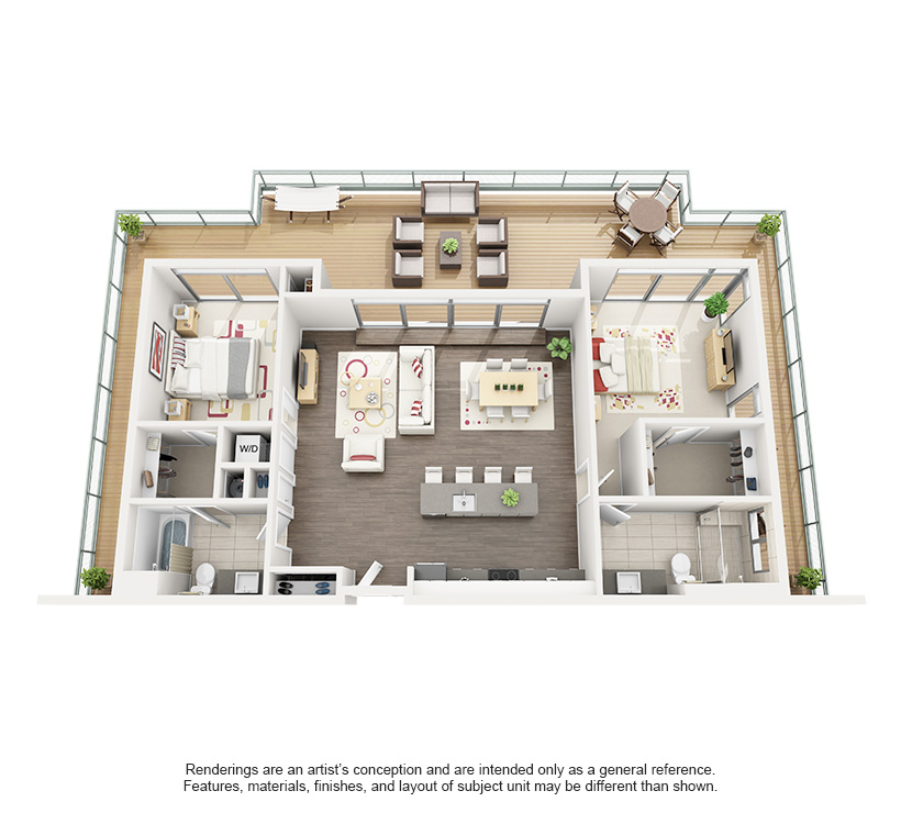 Superior 3D Floor Plan Rendering